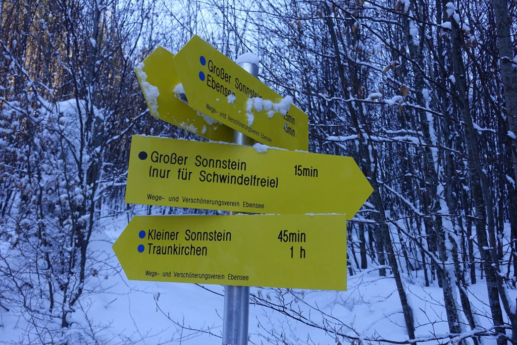 Am Weg vom Großen zum Kleinen Sonnstein. Foto: Peter Backé
