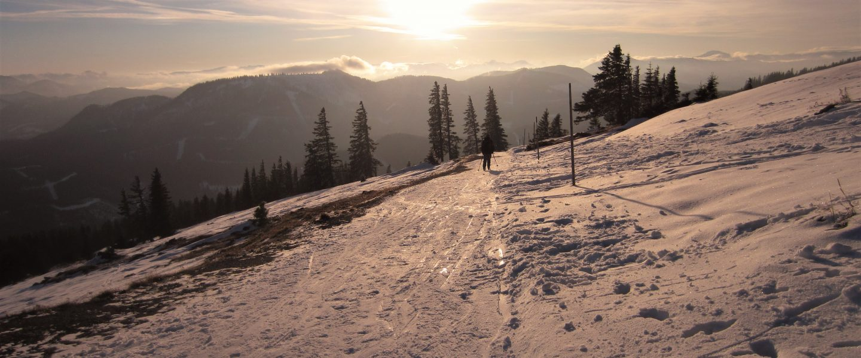 Sonne am Gipfel des Tirolerkogel. Foto: Petra Jens