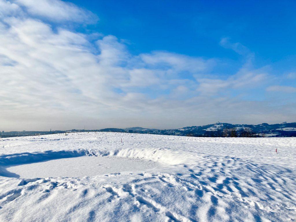 Moonwalk? Mondlandschaft am Linzer Golfplatz. Foto: Stefan Hochhold