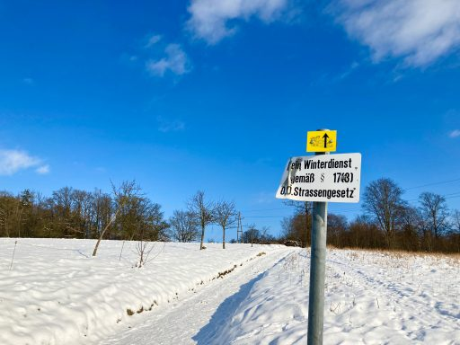 Kein Winterdienst! Foto: Stefan Hochhold