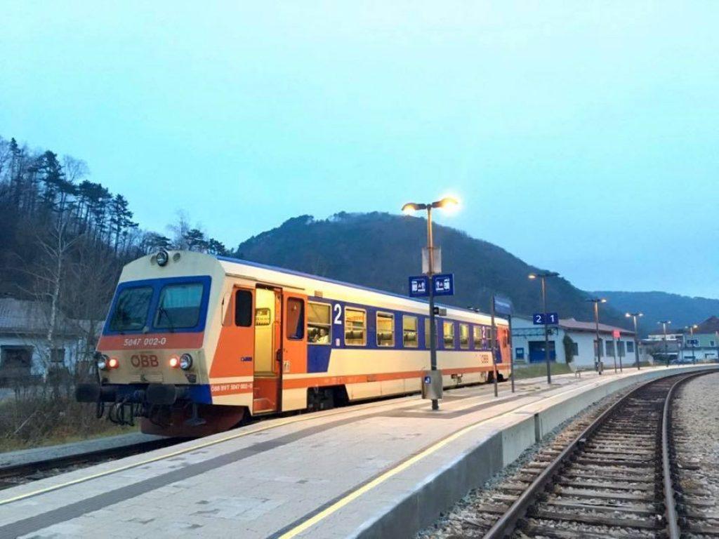 Bahnhof Weissenbach. Foto Veronika Schöll