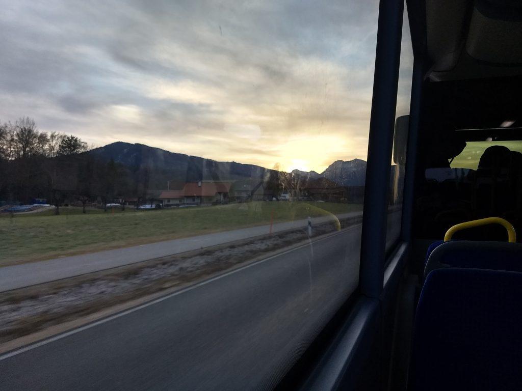 Im Bus nach Weißbach. Foto: Nikolaus Vogl