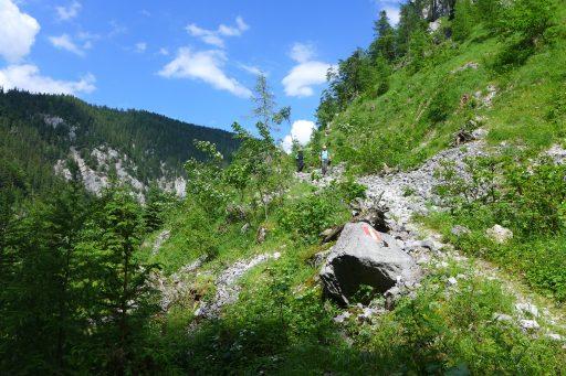 Im Kesselgraben. Foto: Alpenverein Edelweiss
