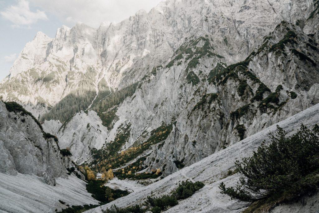 Blick auf die Haindlkarhütte von der Gsengscharte. Foto: Max Mauthner