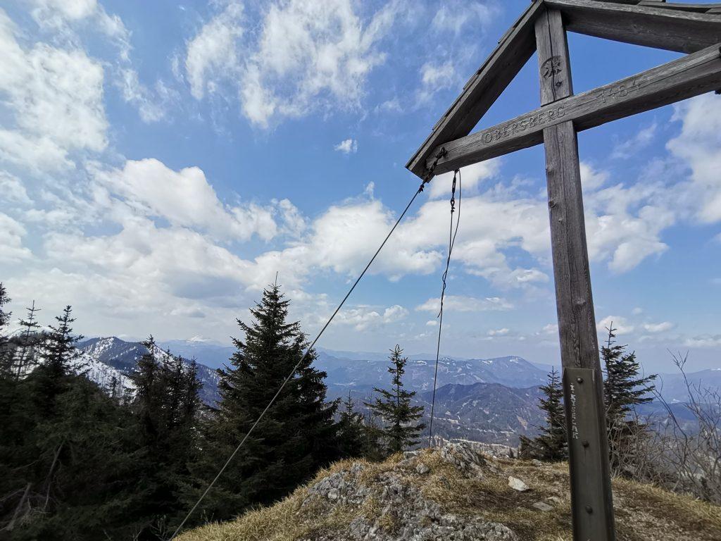 Gipfelkreuz am Obersberg. Foto Veronika Schöll