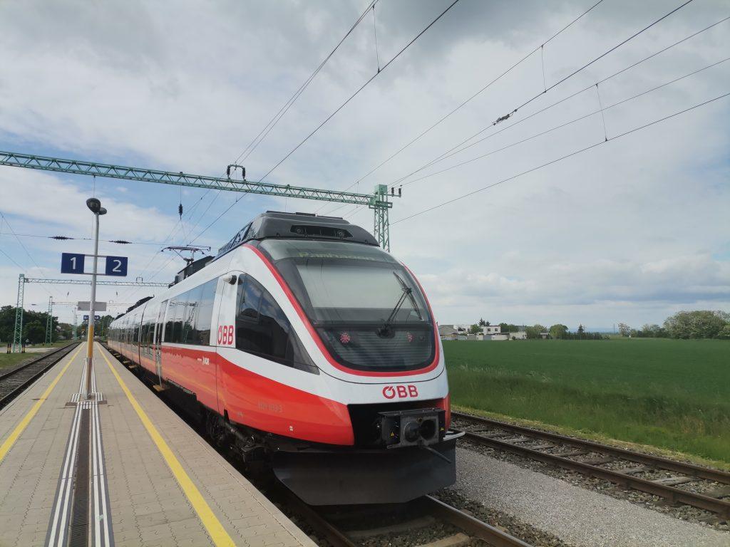 Bahnhof Frauenkirchen. Foto Veronika Schöll