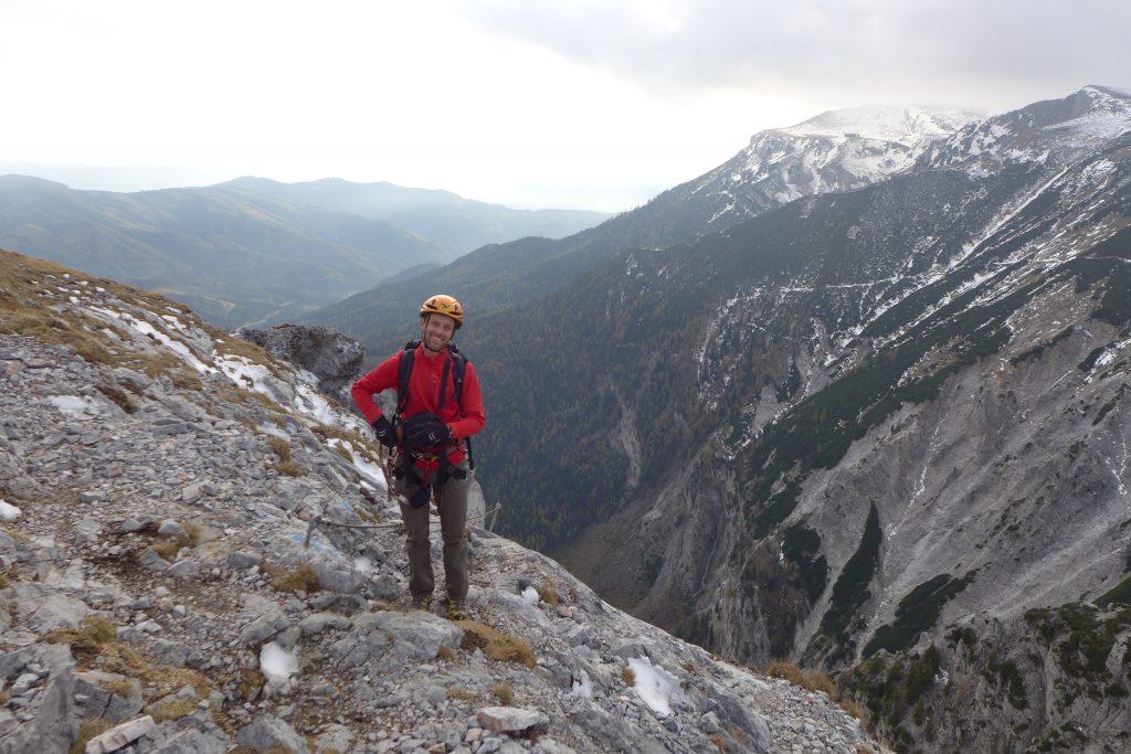 Beim Ausstieg. Foto: Alpenverein Edelweiss