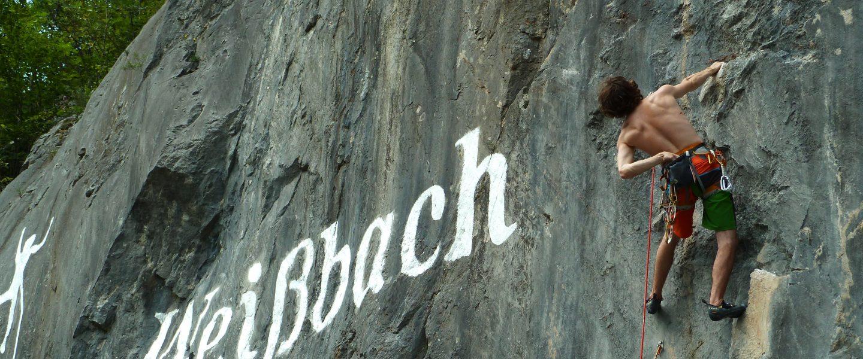 Klettergebiet Weißbach. Foto: Österreichischer Alpenverein - ÖAV