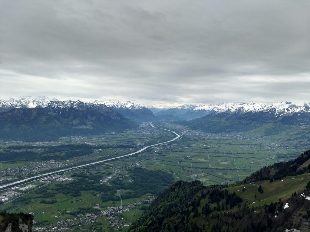 Rheintal Richtung Süden. Foto: Nikolaus Vogl