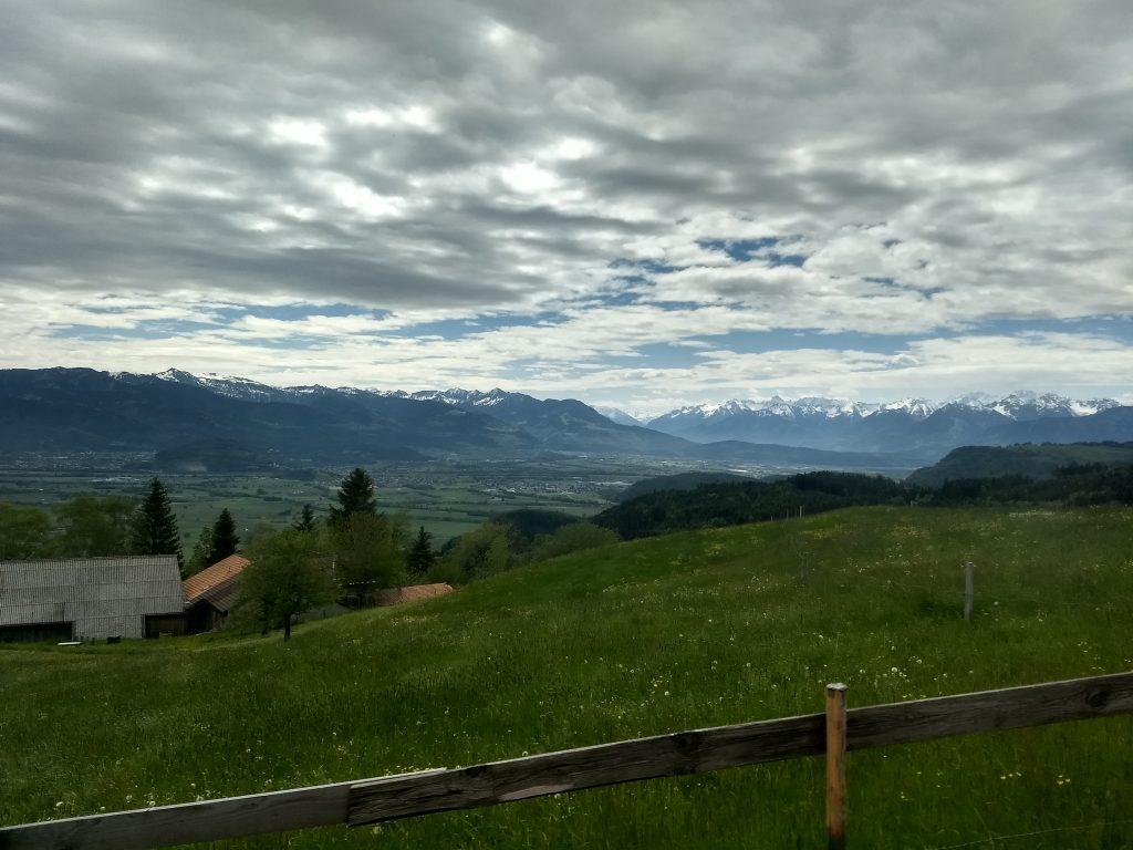 Zahnradabschnitt oberhalb Altstätten Richtung Appenzell. Foto: Nikolaus Vogl