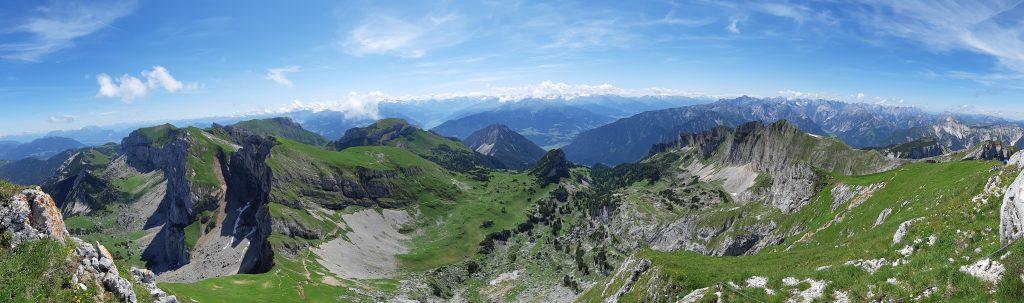 Ausblick von der Hochiss. Foto: Konrad Gwiggner