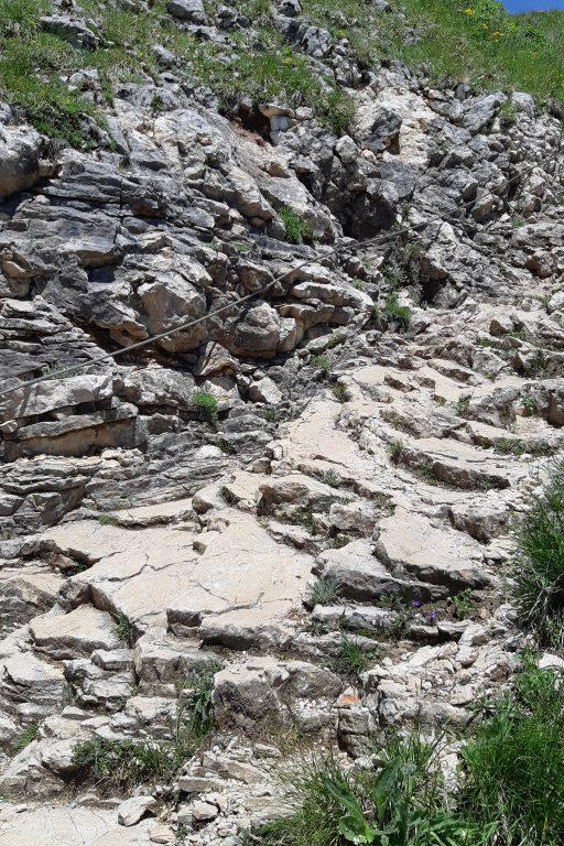 Abstieg unterhalb des Gschöllkopfs. Foto: Konrad Gwiggner