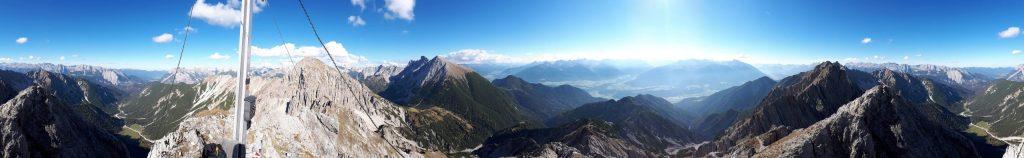 360° Panorama von der Kuhljochspitze. Foto: Konrad Gwiggner