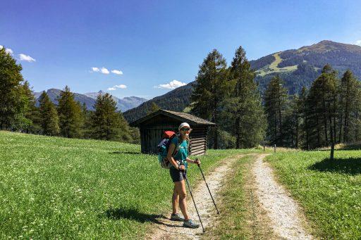 Aufstieg über Pflutschwiesen zur Blaser Hütte. Foto: Judith Hammer