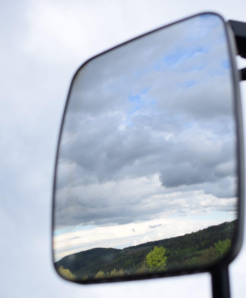 Blick von Rabenwald Richtung Norden im Rückspiegel, Foto: Lisa Habersack