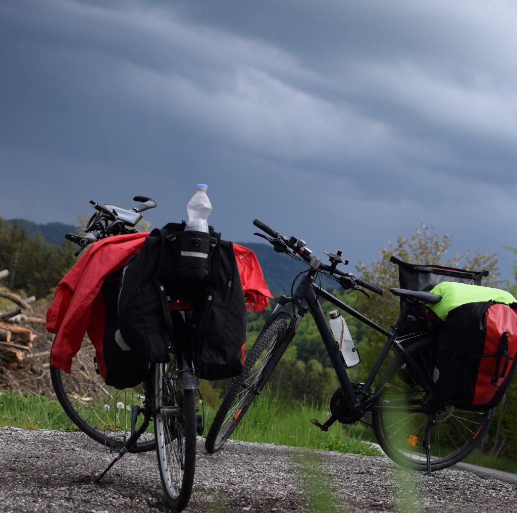 Rabenwald bei aufziehendem Gewitter mit Blick Richtung Süden, Foto: Lisa Habersack
