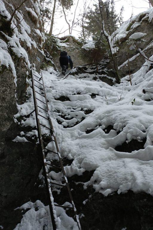 Waldeggersteig, Winterbegehung. Foto Simon Widy