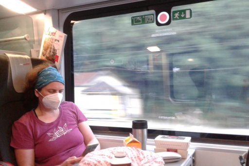 Anreise mit Bahn... Foto: Petra Jens