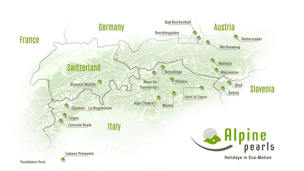 Alpine Pearls Karte