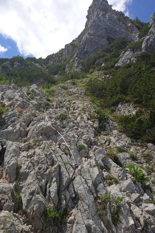 Kletterpassage. Foto: Birgit Frank