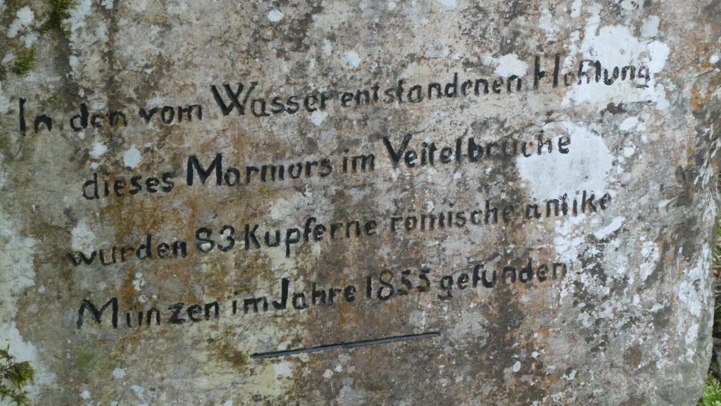 Inschrift. Foto: Karl Plohovich