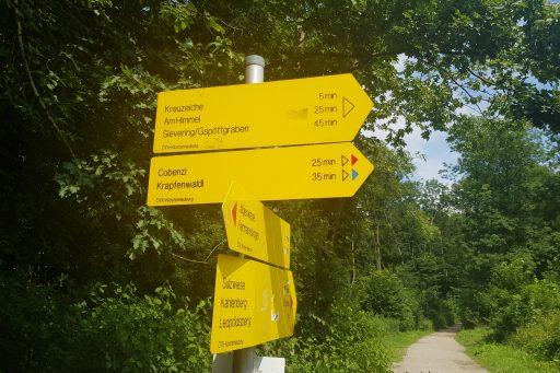 Wegweiser. Foto: Regina Hrbek/Naturfreunde