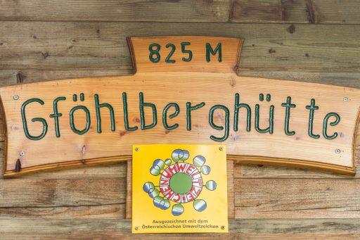 Schild Gföhlberghütte. Foto: Alfred Leitgeb/Naturfreunde