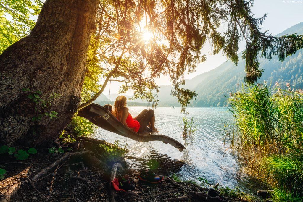 Entspannung am Weissensee. Foto Tine_Foto.com