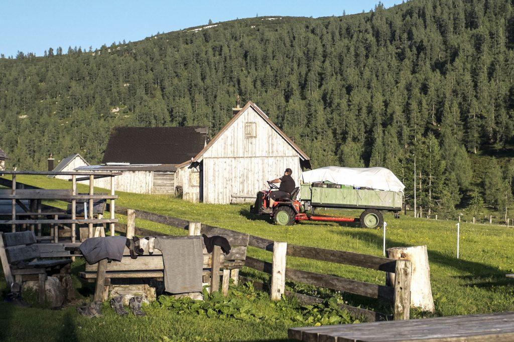 Vorratstransport zur Hochmölbinghütte. Foto: Birgit Reiter