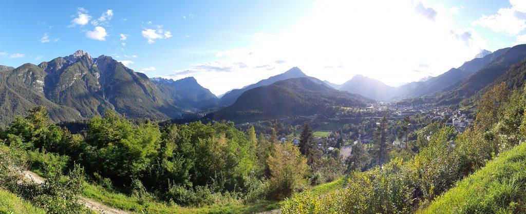 Blick vom Festungsberg in Richtung Belluno. Foto: Konrad Gwiggner