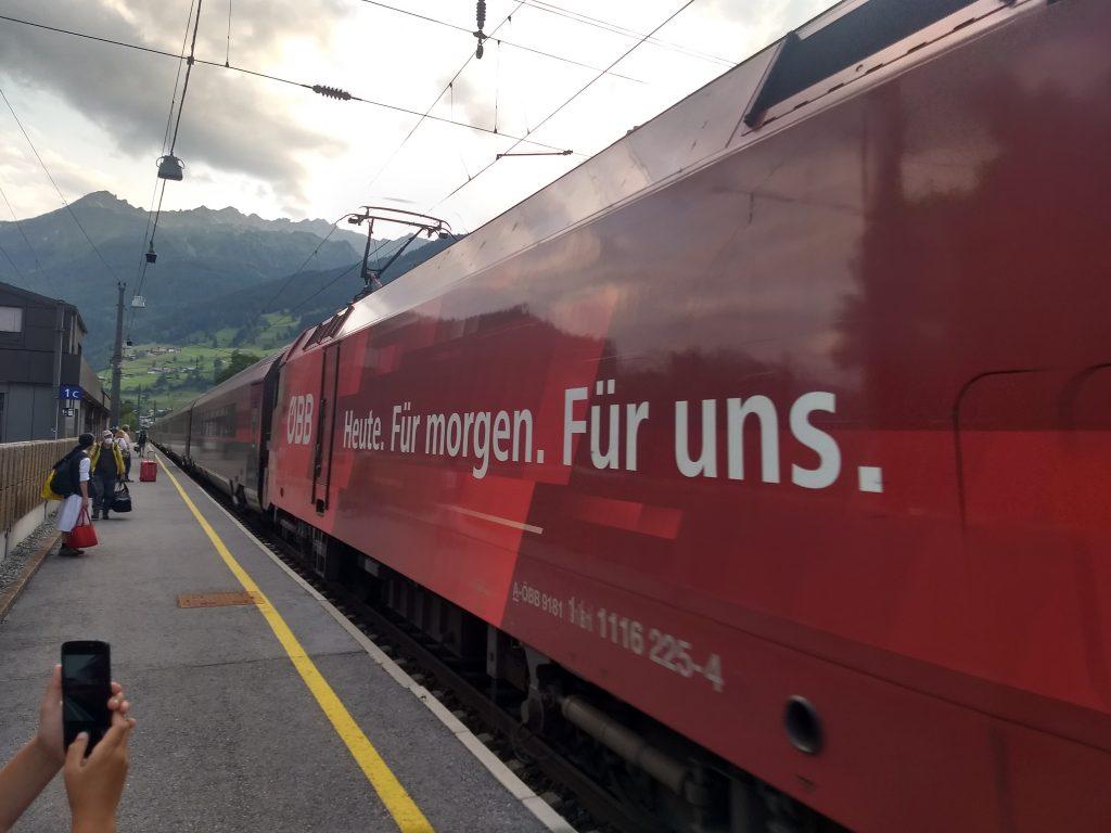 An- und Abfahrt mit dem Railjet. Foto: Nikolaus Vogl