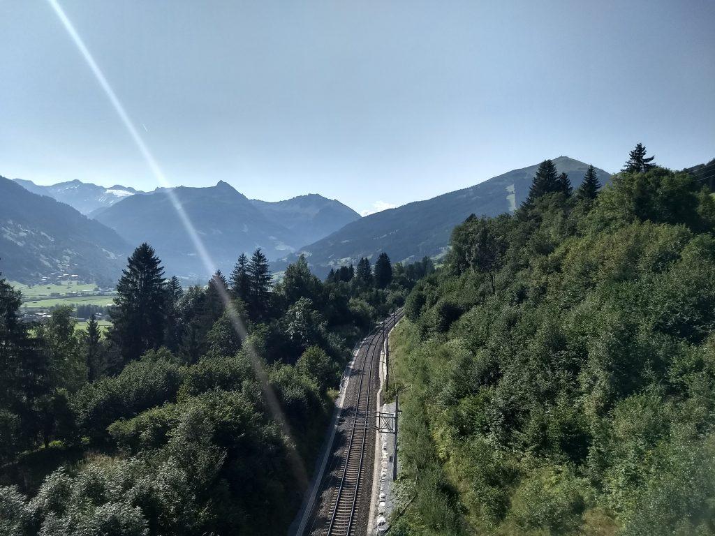 Strecke der Tauernbahn aus der Schlossalmbahn. Foto: Nikolaus Vogl