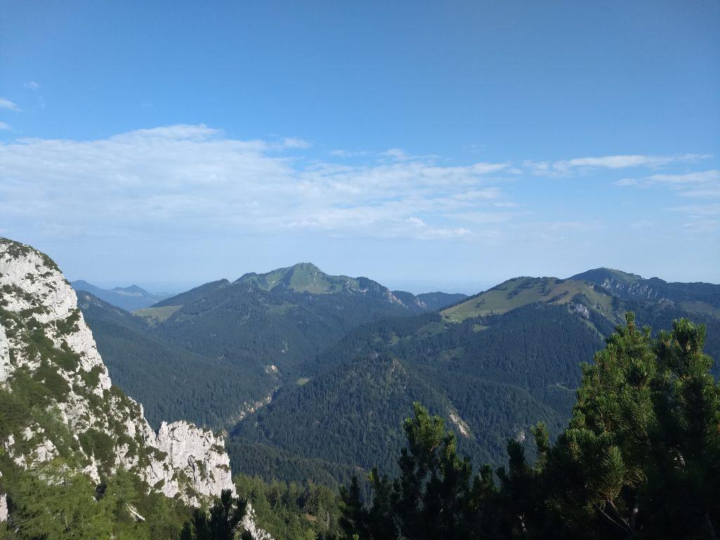 Kurz unterhalb des Gipfels - Blick nach Norden. Foto: Nikolaus Vogl