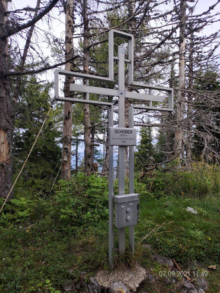 Gipfelkreuz Schober. Foto: Simon Widy
