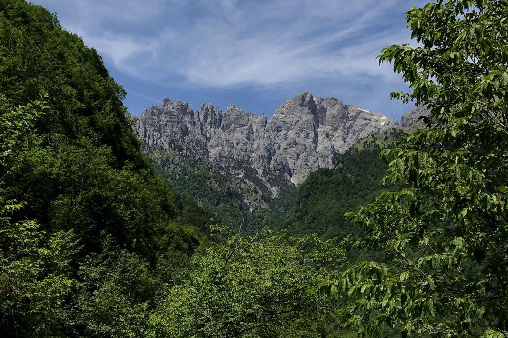 Belluneser Dolomiten erster Schiarablick nahe Marian. Foto: Peter Backé