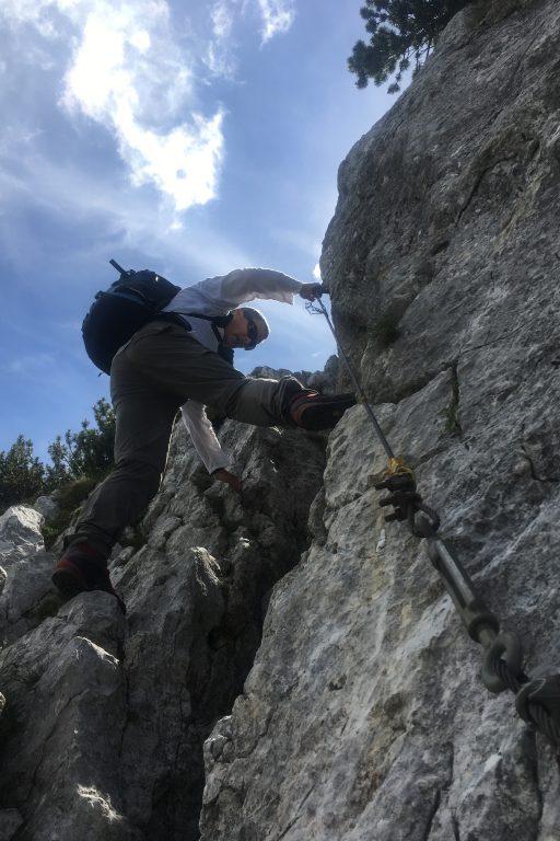 In der Vorderen Steingrube und kurz mal abklettern. Fotos Veronika Schöll