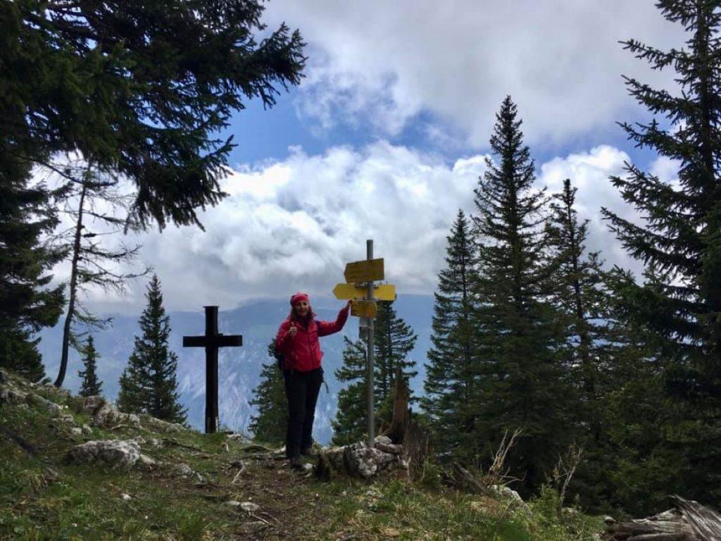 Am höchsten Punkt unserer Wanderung. Foto Veronika Schöll