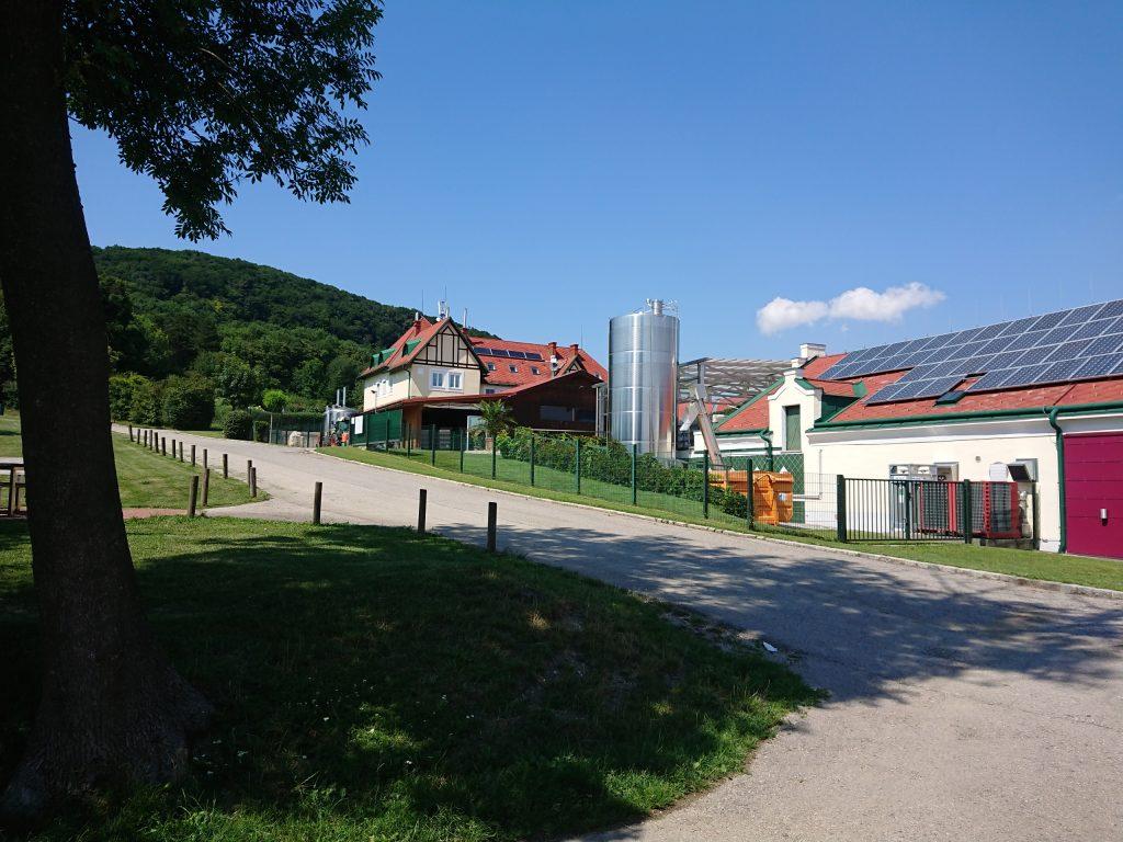 Wirtschaftsgebäude des Weinguts Cobenzl. Foto Sigrun Heppner