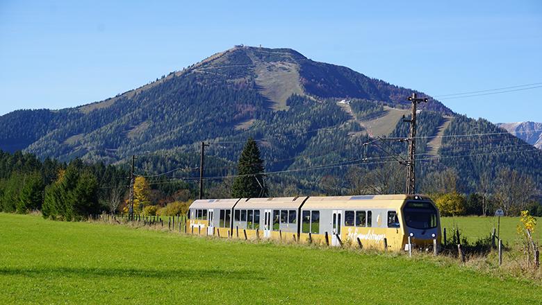 Die Himmelstreppe ist der klimafreundlichste und bequemste Weg zur Gemeindealpe. Foto weinfranz