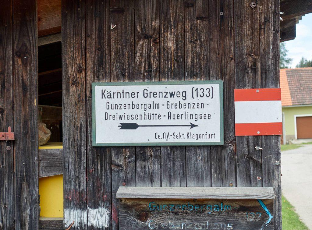 Aufstieg am Kärntner Grenzweg. Foto: Martin Heppner