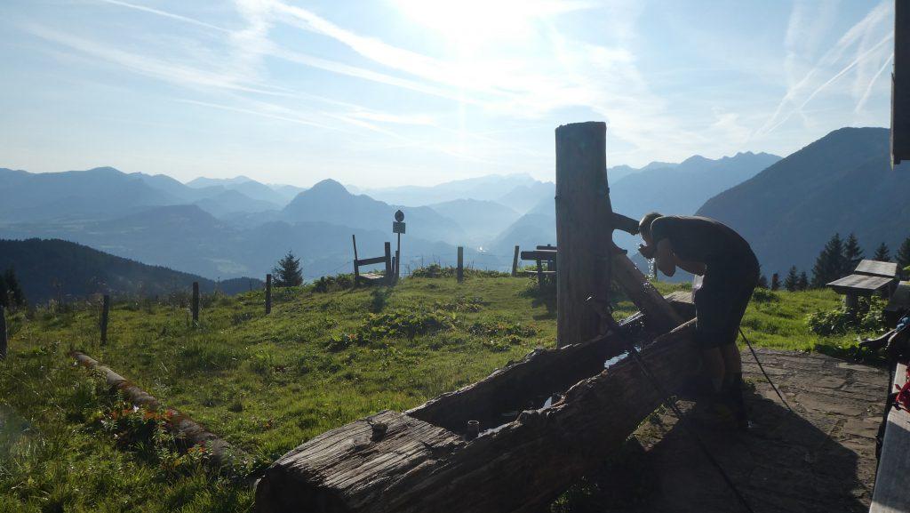 Labung auf der  Dürrfeichenalm. Foto: Karl Plohovich