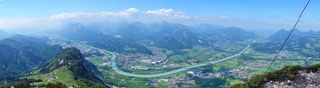Panorama Inntaul von Naunspitze aus. Foto: Martin Heppner